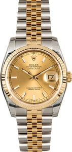 Rolex Two-Tone Datejust 116233 Factory Stickers