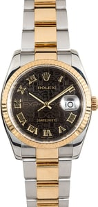 Rolex Two-Tone Datejust 116233 Black Jubilee
