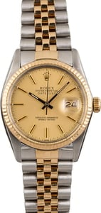Pre Owned Rolex Two-Tone Datejust 16013 Jubilee Band