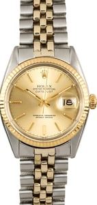 Rolex Two-Tone Datejust 16013 Champagne