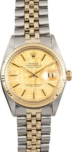 Rolex Two-Tone Datejust 16013 Linen Dial