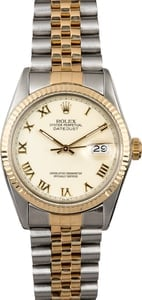 Rolex Two-Tone Datejust 16013 Ivory
