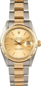 Rolex Two-Tone Datejust 16013 Oyster