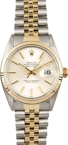 Rolex Two-Tone Datejust 16013 Silver Dial