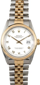 Rolex Two-Tone Datejust 16013 White