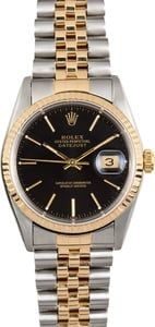 Rolex Two-Tone Datejust 16233 Black