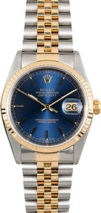 Rolex Two-Tone Datejust 16233 Blue Dial