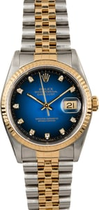 Rolex Two-Tone Datejust 16233 Blue Diamond