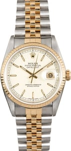 Rolex Two-Tone Datejust 16233 Jubilee Dial