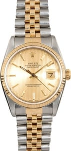 Rolex Two-Tone Datejust 16233 Tapestry