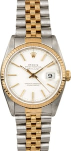 Rolex Two-Tone Datejust 16233 White Dial