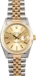 Rolex Two-Tone Datejust Champagne 16013