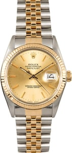 Rolex Two-Tone Datejust Champage 16013