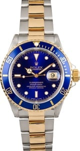 Rolex Two-Tone Submariner 16613 Blue Dial