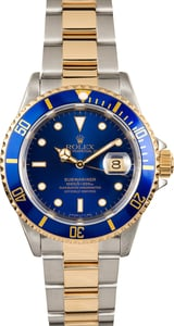 Rolex Two Tone Submariner 16613 Oyster