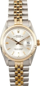 Rolex Vintage Silver Index Datejust 1601