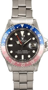 1977 Rolex Vintage GMT 1675 Faded Pepsi