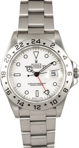 Rolex White Explorer 2 16570 Certified Pre-Owned
