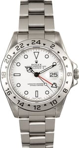 Rolex White Explorer II 16570 Certified Pre-Owned