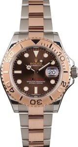 Pre Owned Rolex Yacht-Master 116621 Two Tone Everose Chocolate Dial