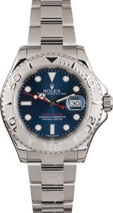 PreOwned Rolex Yacht-Master 116622 Blue Dial Platinum Bezel