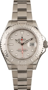Pre-Owned Rolex Yacht-Master 116622 Platinum Dial Watch