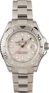 Pre-Owned Rolex Yacht-Master 16622 Platinum Dial Watch