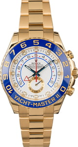 Rolex Yacht-Master II Ref 116688 Yellow Gold White Dial