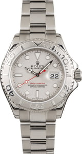 Pre-Owned Rolex Yacht-Master 16622 Platinum Dial and Bezel