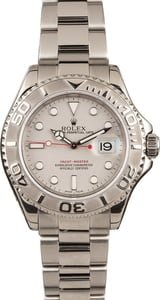 Pre Owned Rolex Yacht-Master 16622 Platinum Dial