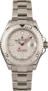 Used Rolex Yacht-Master 16622 Platinum Bezel and Dial 40MM Oyster Bracelet