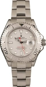 Pre Owned Rolex Yacht-Master 16622 Luminous Platinum Dial
