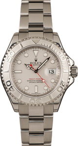 Pre-Owned Rolex Yacht-Master 16622 Platinum Timing Bezel Watch