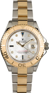Rolex Yacht-Master 16623 Mother of Pearl Serti Dial