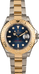 Pre-Owned Rolex Yacht-Master 16623 Blue Dial Two Tone Oyster