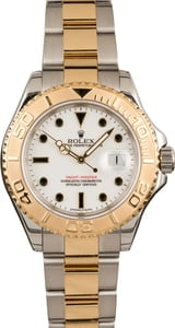 Used Rolex Used Yacht-Master 16623 Two-Tone Oyster with White Dial T
