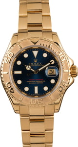 Pre-Owned Rolex Yachtmaster 16628 Blue Dial 40MM