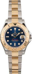 Pre Owned Mid-size Rolex Yacht-Master 168623 Blue Dial