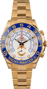 Pre-Owned Rolex Yacht-Master II Ref 116688 Yellow Gold White Dial