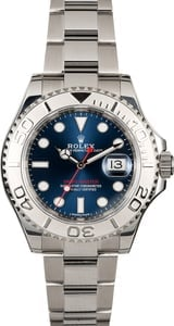 Pre-Owned Rolex Yacht-Master 116622 Blue Luminous Dial