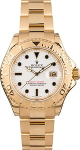 Pre Owned Rolex Yachtmaster 16628 White Dial