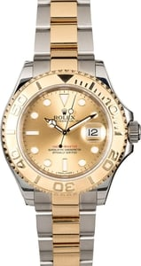 Used Rolex Men's Yachtmaster Stainless Steel and Gold 16623