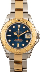 Used Rolex Mid-Size Yacht Master 68623 Blue Dial