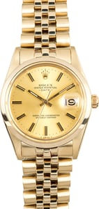 Rolex Yellow Gold Date 15007