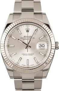 Pre-Owned Rolex Datejust 41 Ref 126334 Silver Dial