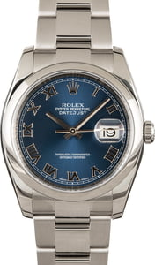 Rolex Datejust 116200 Blue Dial 100% Authentic