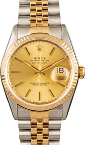 Men's Rolex Datejust 16233 Two-Tone