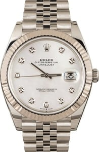 Used Rolex Datejust 41 Ref 126334 MOP Diamond Dial