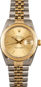 135028 x-1 Pre-Owned Rolex Datejust 16013 Two Tone