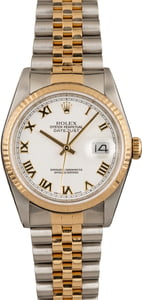 Pre-Owned Rolex Datejust 16233 White Dial